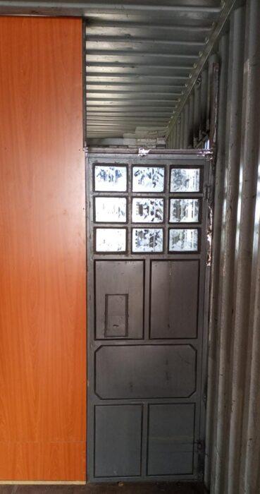 Image of a metal door